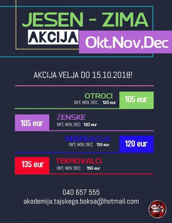 SCORPIONI POZOR: Akcija JESEN – ZIMA velja do 15.10.2018!!